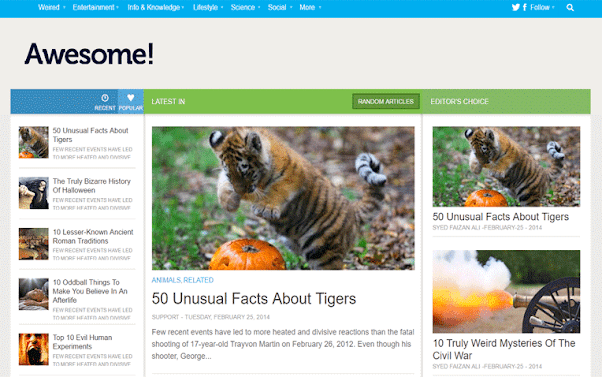 Awesome Mag Free Blogger Template
