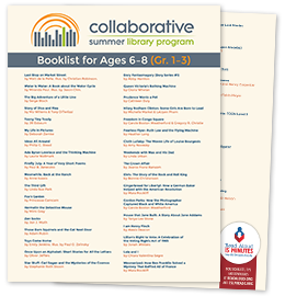 Poster: Collaborative Summer Library Program's booklist for ages 6-8