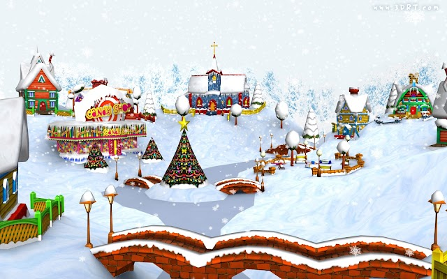 HD Christmas Village Wallpaper