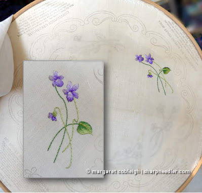 Society Silk Violets: First bunch of violets is finished