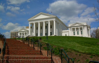 Virginia state capitol Richmond lottery taxes