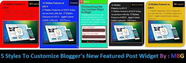 stylish featured post widgets for blogger