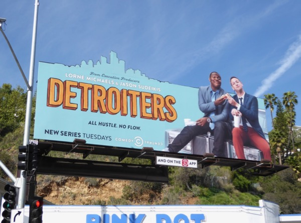 Detroiters season 1 cutout billboard