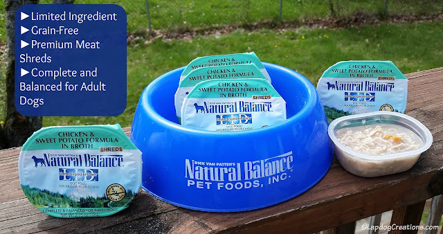 Natural Balance LID Wet Cups #review #dogfood #ChewyInfluencer #LapdogCreations ©LapdogCreations
