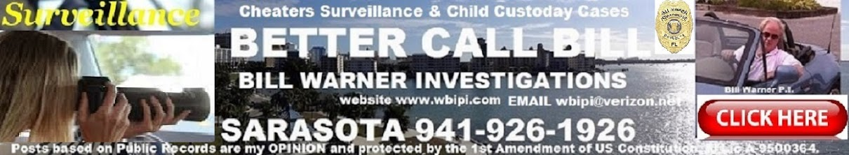 SARASOTA PRIVATE INVESTIGATOR BILL WARNER 2875 Ashton Rd unit 17552 SARASOTA, FL.