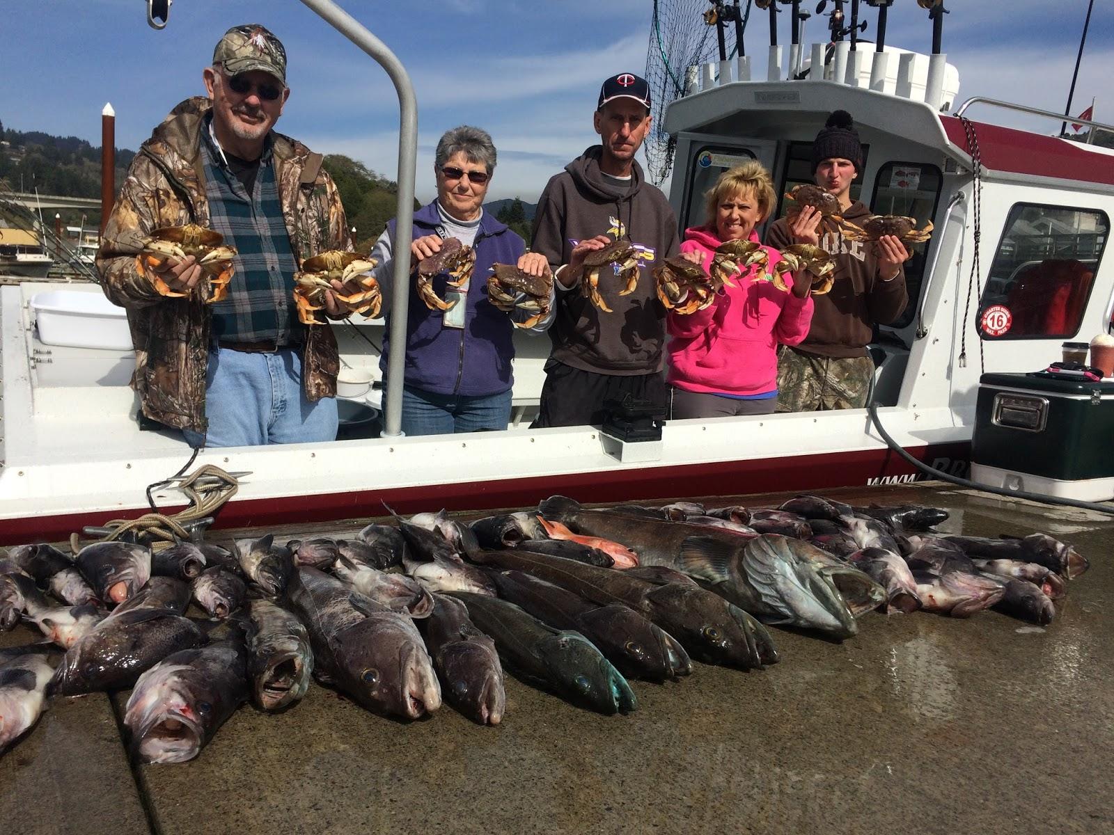 Brookings oregon fishing charters new oregon rockfish for Charter fishing brookings oregon