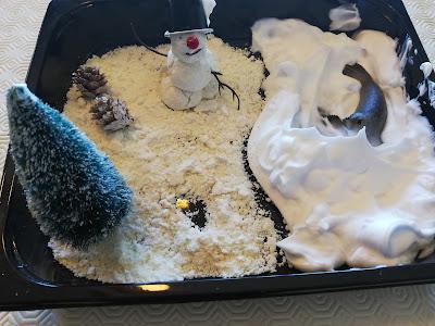 Detalhes da brincadeira com neve DIY