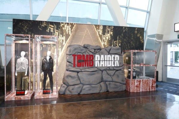 Tomb Raider movie remake exhibit