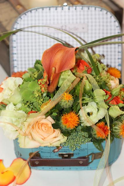 Hochzeit mit Reisemotto in Orange, Pfirsich, Apricot - Niederlande meets Russland in Garmisch-Partenkirchen, Riessersee Hotel, Bayern - Travel themed wedding orange colour scheme