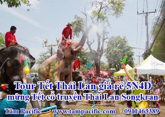 Tour Tết Thái Lan giá rẻ 5N4Đ mừng Tết cổ truyền Thái Lan Songkran