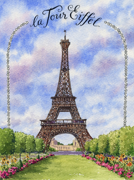 Steps To Eiffel Tower Top : Everyday artist france sketchbook eiffel tower step by
