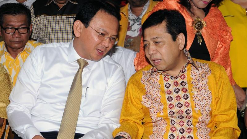 Ahok berbincang dengan Ketum Partai Golkar Setya Novanto