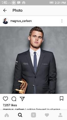 Foto Magnus Carlsen, sang juara dunia Catur