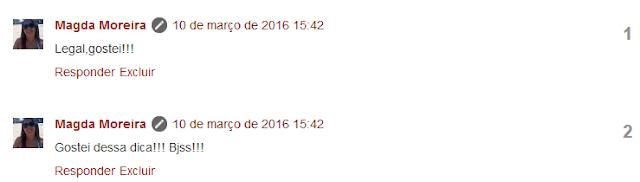 Comentários numerados no blog