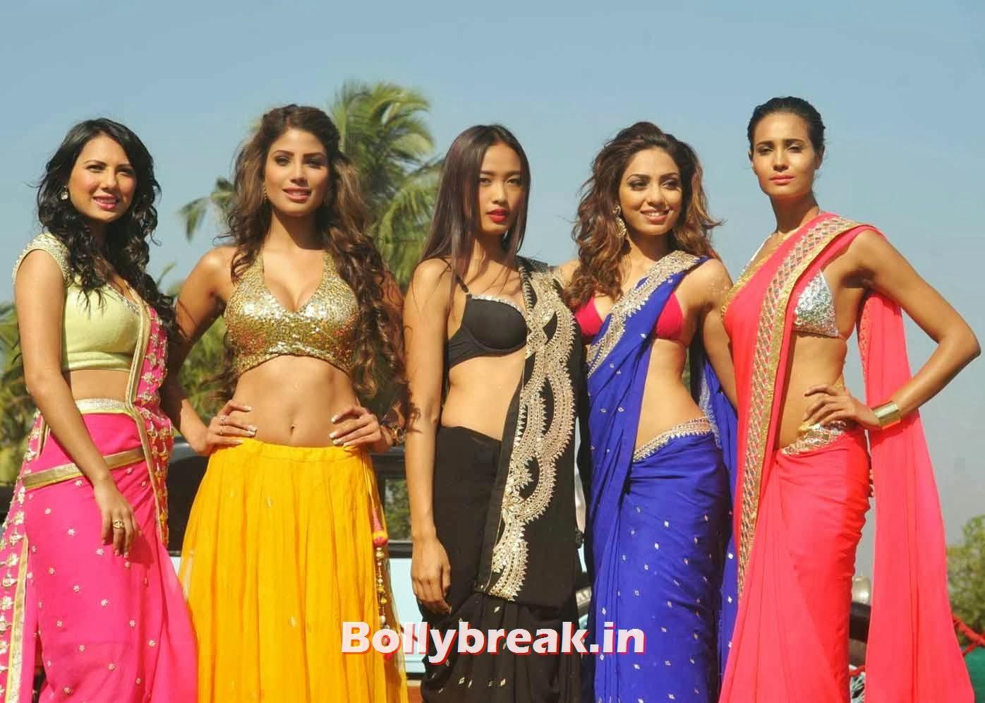 Nicole Faria, Full Set : Super Hot Models at Kingfisher Calendar Launch In Alibaug Mumbai