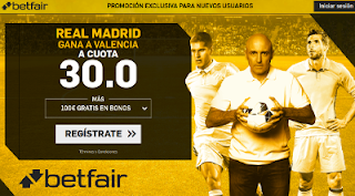 betfair supercuota Real Madrid gana al Valencia 27 enero