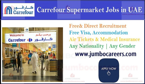 Hypermarket jobs in UAE with accommodation, Current UAE jobs with salary and benefits,