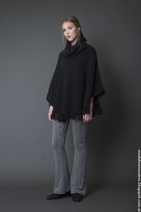 Ponchos y capas invierno 2016, ropa de mujer Bled.