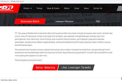 Lowongan Pekerjaan PT. Suryaraya Rubberindo Industries VIa Website (fdrtire.com/career) untuk SMK s/d S1