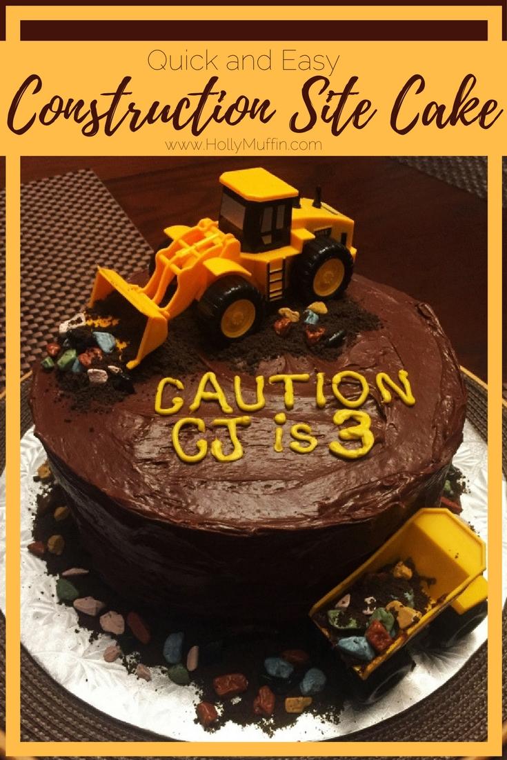 Wondrous Third Birthday Construction Site Cake Holly Muffin Funny Birthday Cards Online Alyptdamsfinfo
