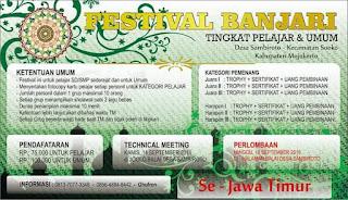 Festival Al Banjari Tingkat Pelajar dan Umum Se Jawa Timur 18 September Tahun 2016