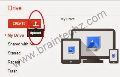 uploading files to google drive