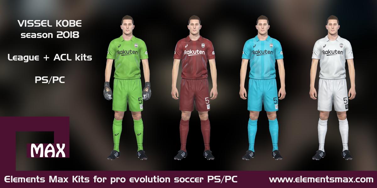Elements MAX Kits: Vissel Kobe PES Kits 2018