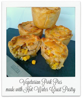 Made with Quorn pieces and a mixture of vegetables, these vegetarian 'pork' pies are a must try.