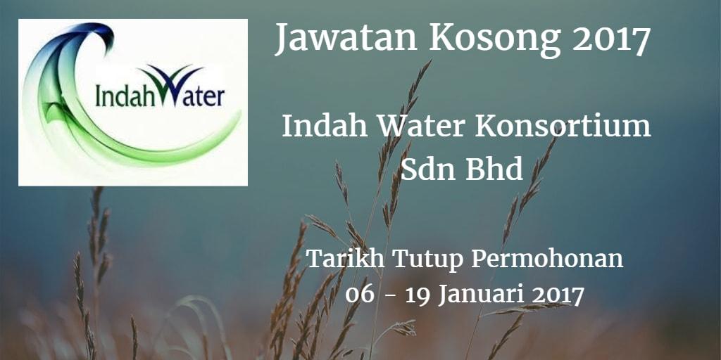 Jawatan Kosong  Indah Water Konsortium Sdn Bhd 06 - 19 Januari 2017