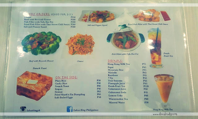 laksa king price list