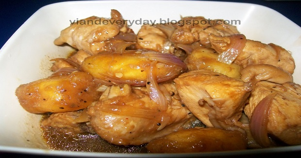 Chicken Adobo With Saba Recipe