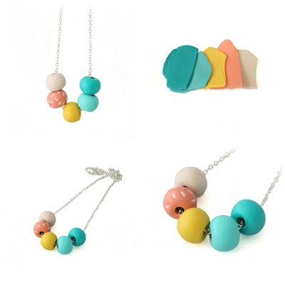 Colorful Beaded Necklace New at Lottie Of London Jewelry