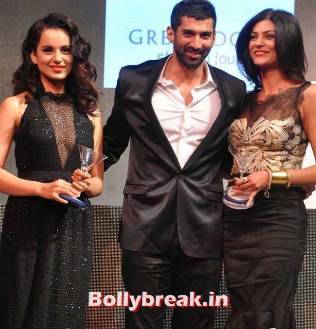 Kangana Ranaut, Aditya Roy Kapoor and Sushmita Sen