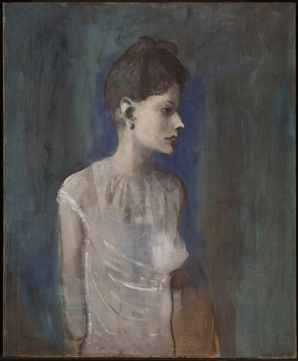 Menina em um Chemise - Picasso e suas pinturas ~ O maior expoente da Arte Moderna