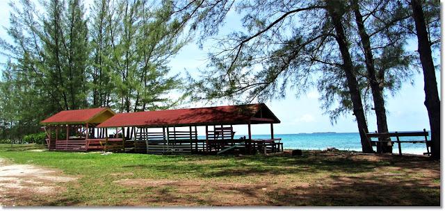 Large Pavilion on the beach.