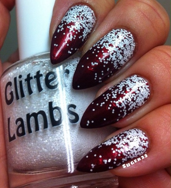 Christmas custom handmade indie lacquer. Christmas nails.
