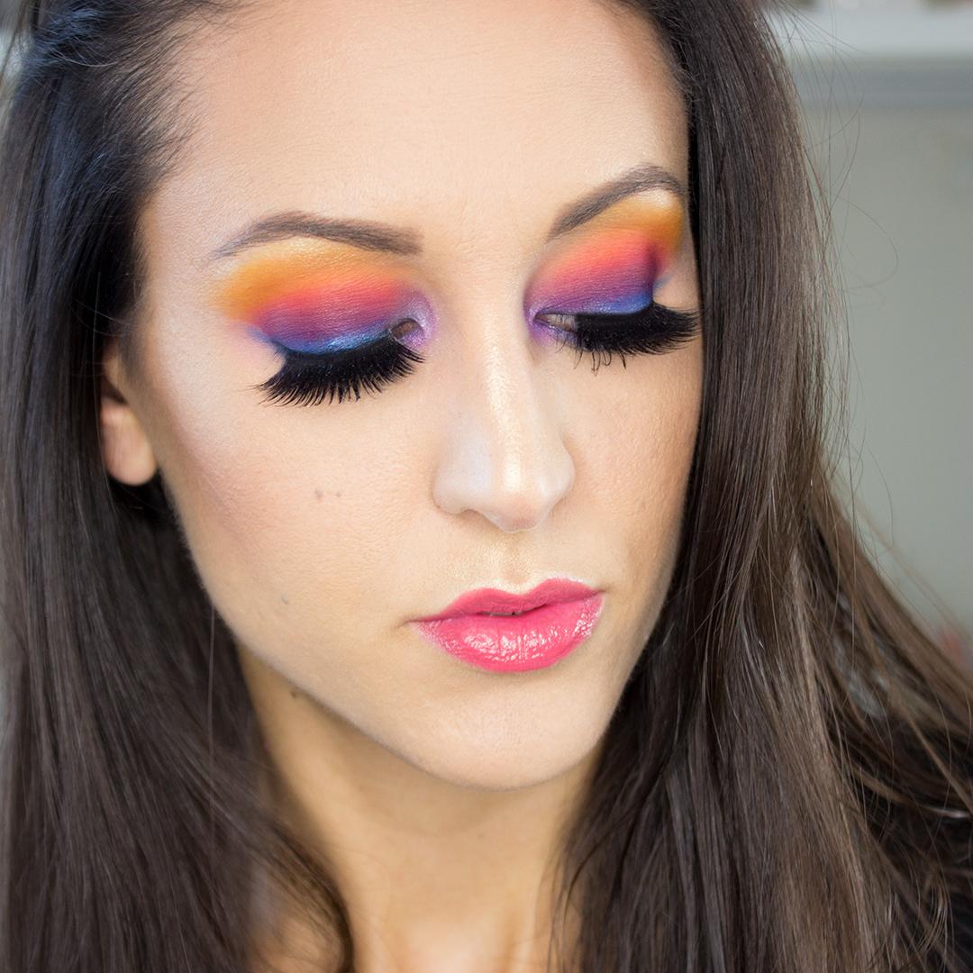 Morphe 35B Color Glam Eyeshadow Palette Makeup Look