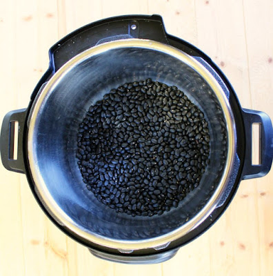dry black beans in instant pot