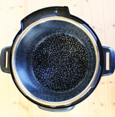 dry black beans in instant pot