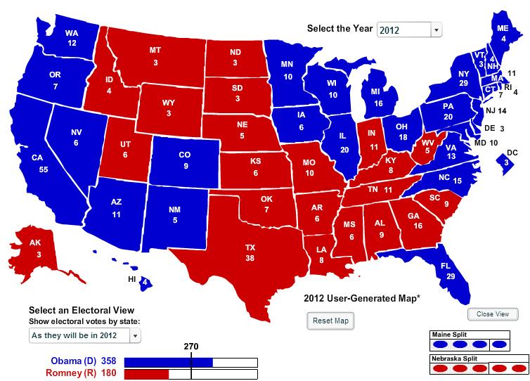The Urban Politico: The Urban Politico\'s 2012 Electoral Map Predictions