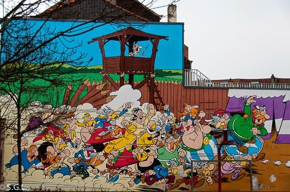 Asterix y Obelix en la ruta del comic en Bruselas
