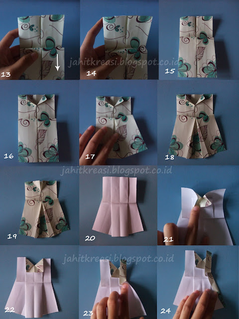 Cara Membuat Origami Baju (Origami Dress)