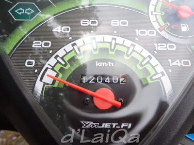 odometer ketika memasuki wilayah Kabupaten Pesawaran