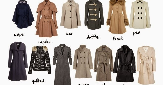 Rachel 180 S Fashion Room Tipos De Abrigos Types Of Coats
