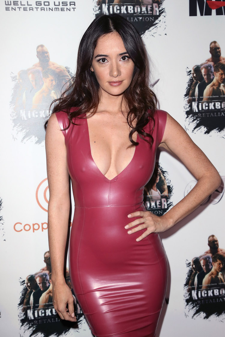 Holly Halston Latex inside lovely ladies in leather: sara malakul lane in a latex dress