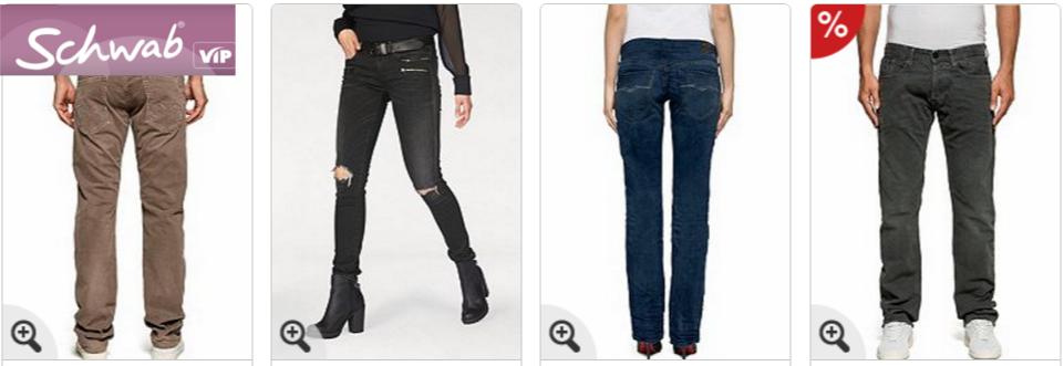 Replay Jeans bei Schwab auf Rechnung bestellen
