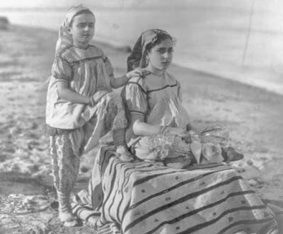 Meninas judias em Túnis