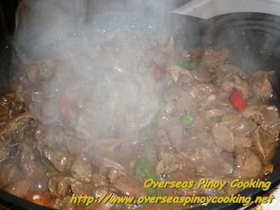 Stirfry Chicken Gizzard and Liver with Oyster Sauce - Cooking Procedure