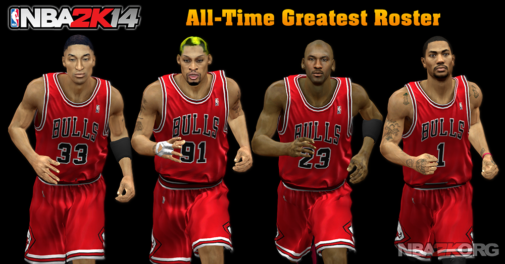 NBA 2K14 All-Time Greatest Roster (Legends + Current