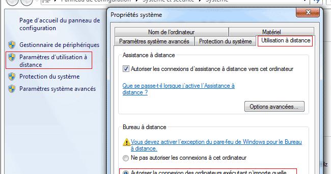 Utilisation du bureau distance pour se connecter un pc - Activer bureau a distance windows 8 ...